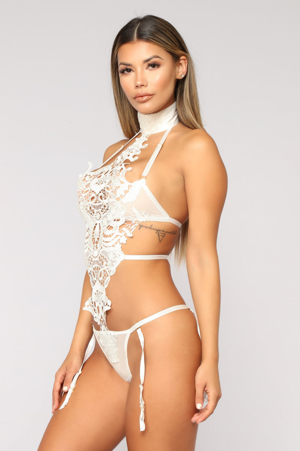 Rayna Crochet Teddy - White