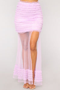 Get Ruffled Up Skirt - Lavender