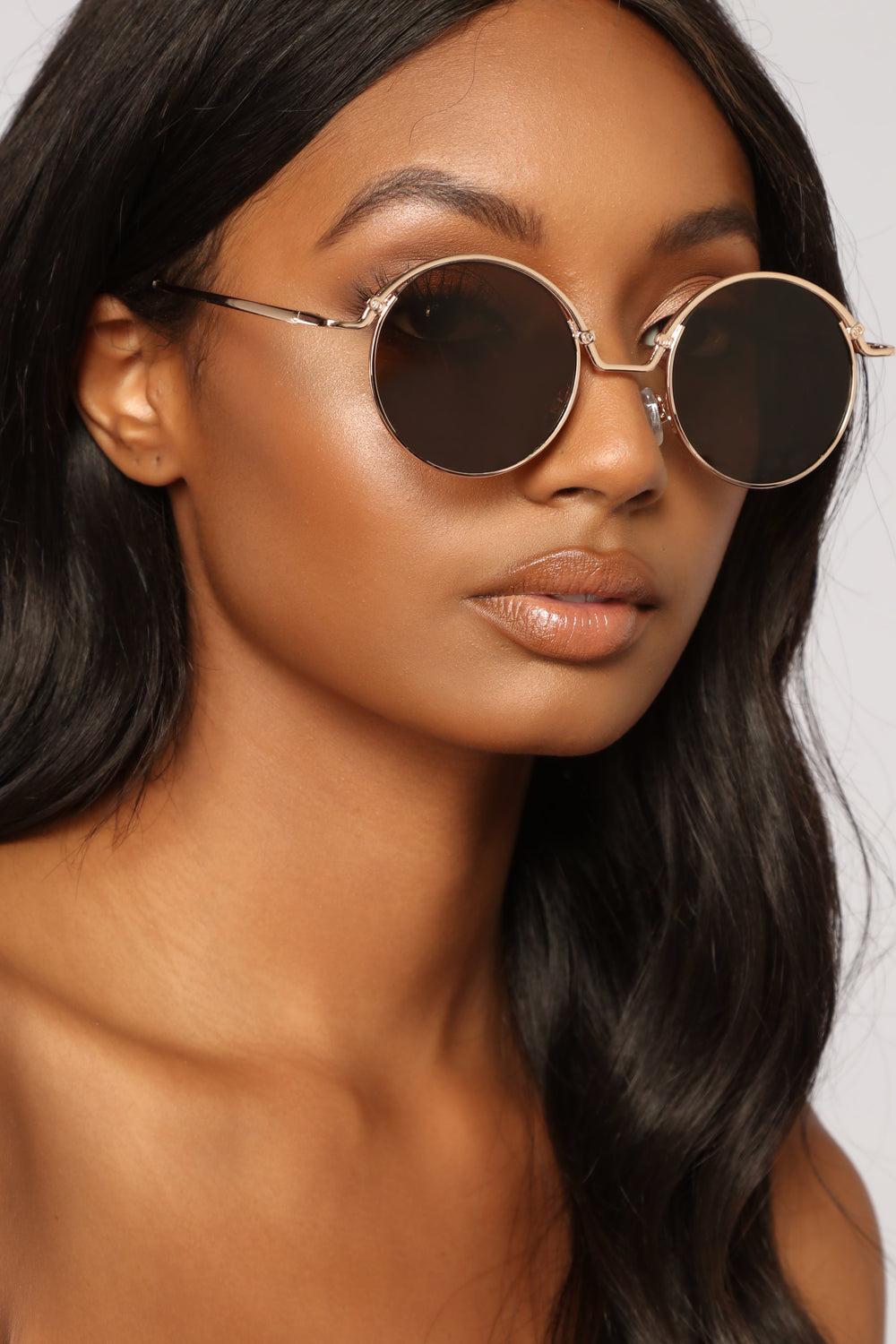 Low Rider Round Sunglasses - Gold