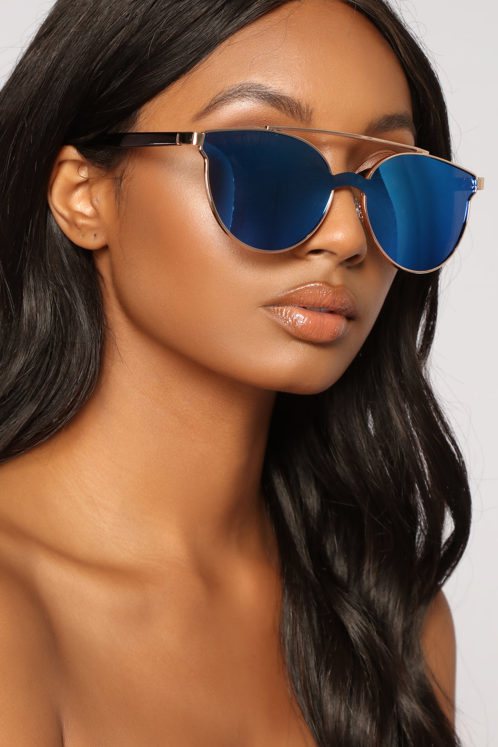 Pamela Aviator Sunglasses - Blue