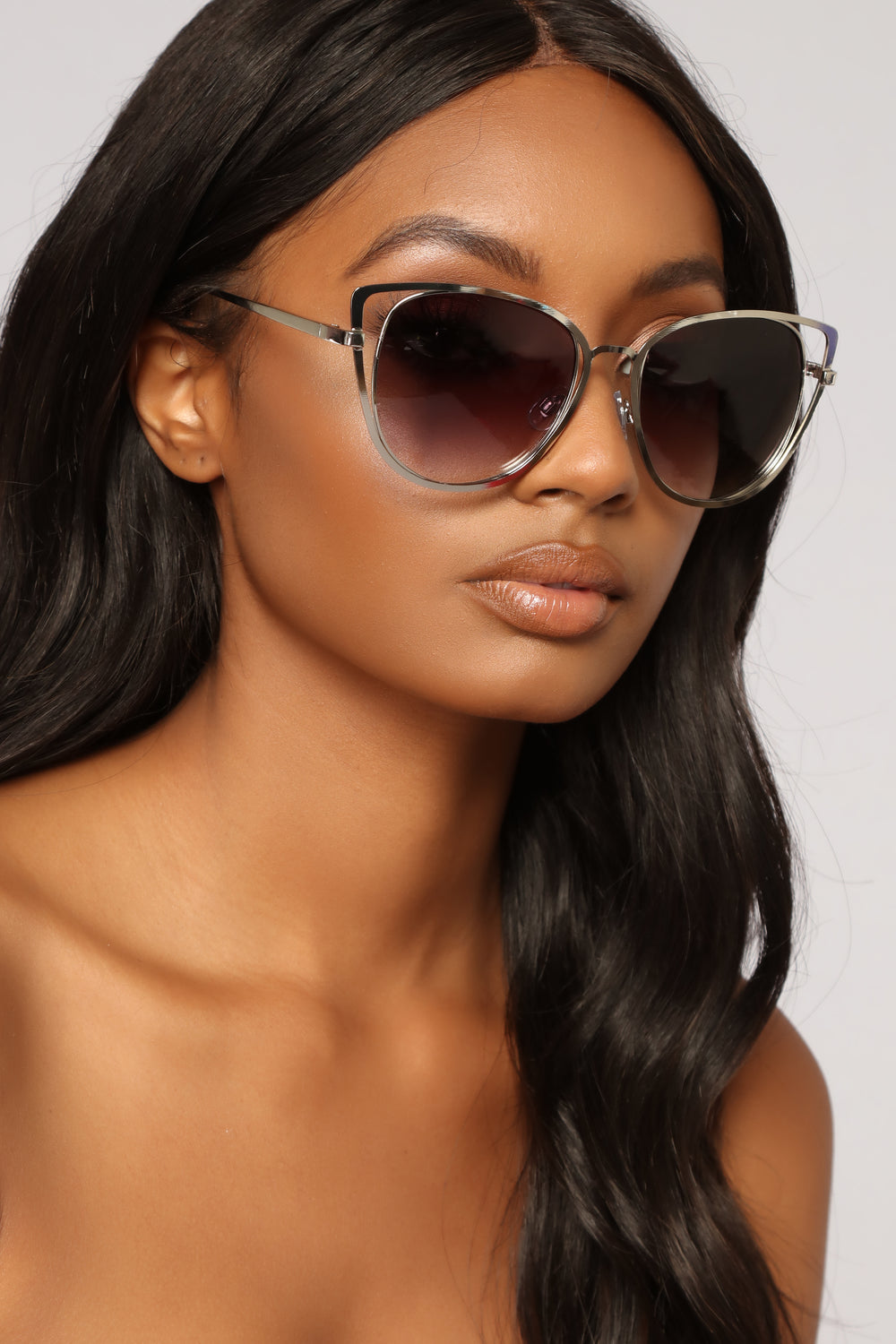 Sneak Up On You Sunglasses - Silver