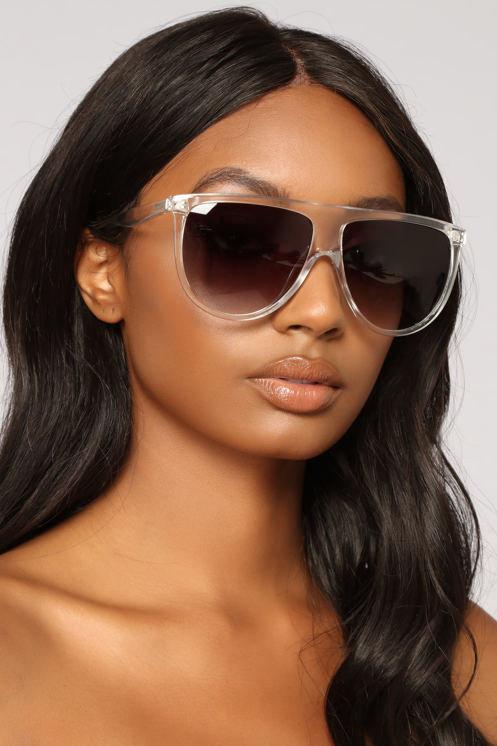 Vienna Oversized Sunglasses - Clear