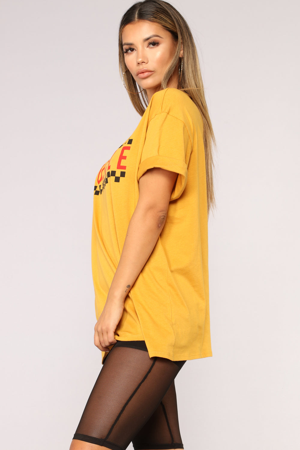 Do The Hustle Tee - Mustard
