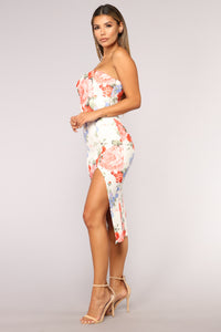 Tears Dry Floral Dress - White