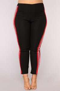 Three Stripe You're Out Pants - Black/Red/White Angle 10
