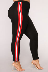 Three Stripe You're Out Pants - Black/Red/White Angle 8