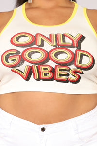 Need That Good Vibe Tank - Ivory/combo