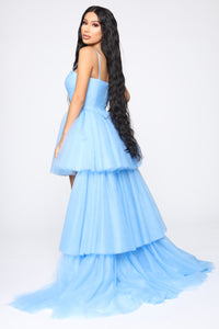 Angela High Low Gown - Blue