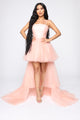 Angela High Low Gown - Pink