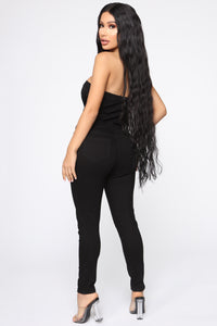 Danielle Denim Jumpsuit - Black