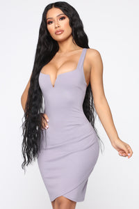 Only Have You Mini Dress - Lavender