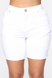 Break Up To Make Up Bermuda Shorts - White