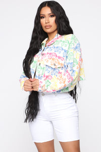 Thrill Of The Fight Denim Jacket - Multi Color