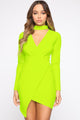 Break My Stride Dress - Neon Yellow