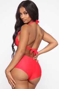 Waste No Time 2 Piece Swimsuit - Red