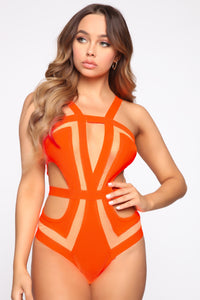 Brighter Than The Sun One Piece Sunsuit - Orange Angle 1