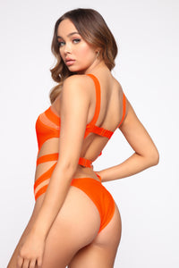 Brighter Than The Sun One Piece Sunsuit - Orange Angle 4