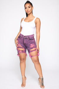 Got Me Racing To You Bermuda Shorts - Pink