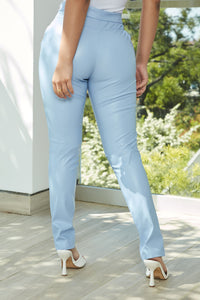 Your Daily Dose Of Faux Leather Pants - Blue Angle 3