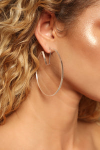 Make Things Clear Hoop Earrings - Clear