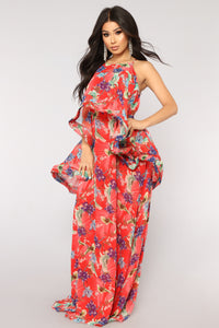 Florida Keys Maxi Dress - Red Multi