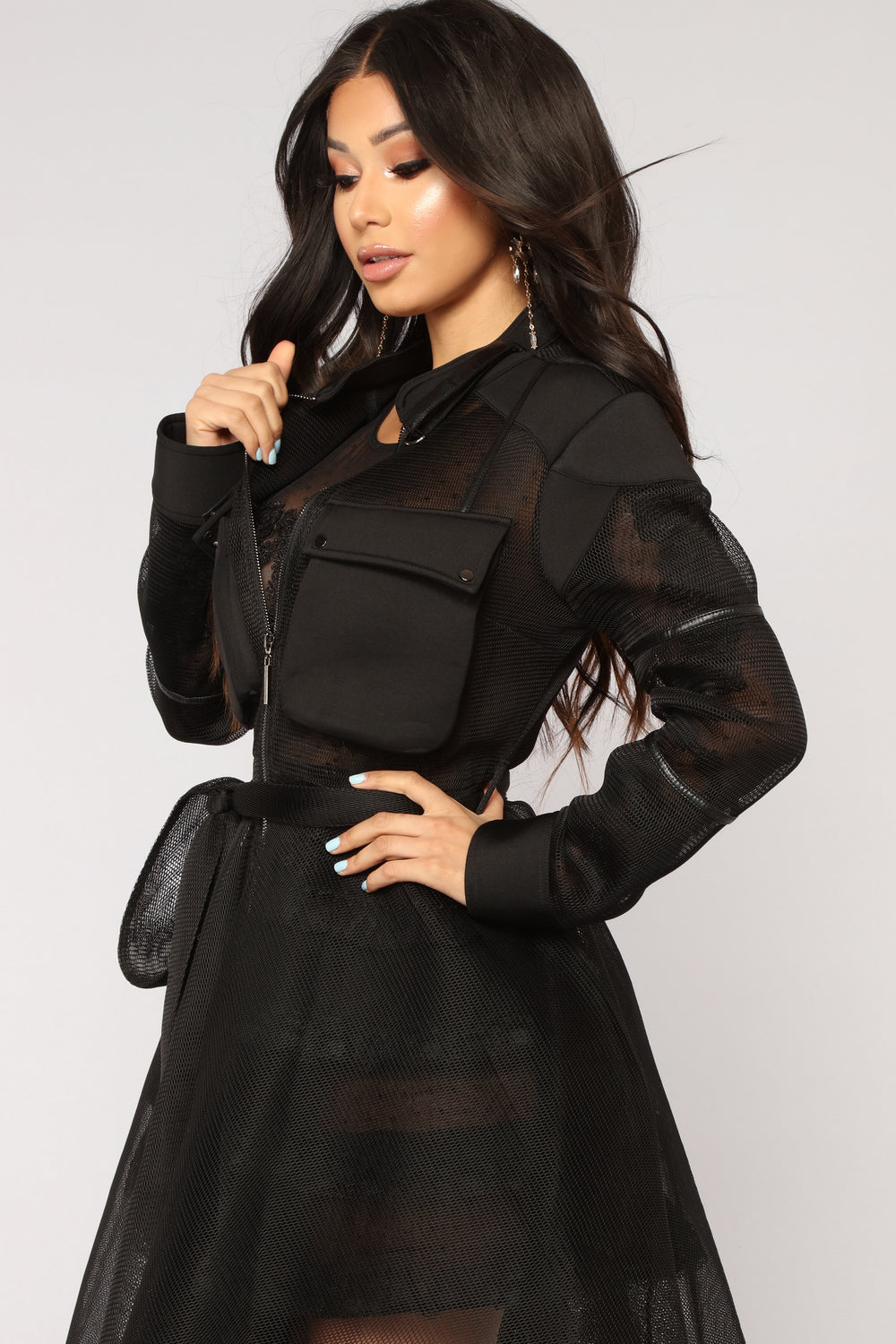 Beyond Fishnet Jacket - Black