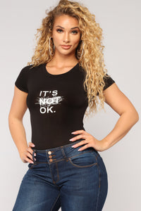 It's OK Bodysuit - Black