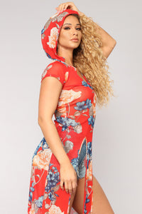 Forever Blooming Maxi Top II - Red/Combo