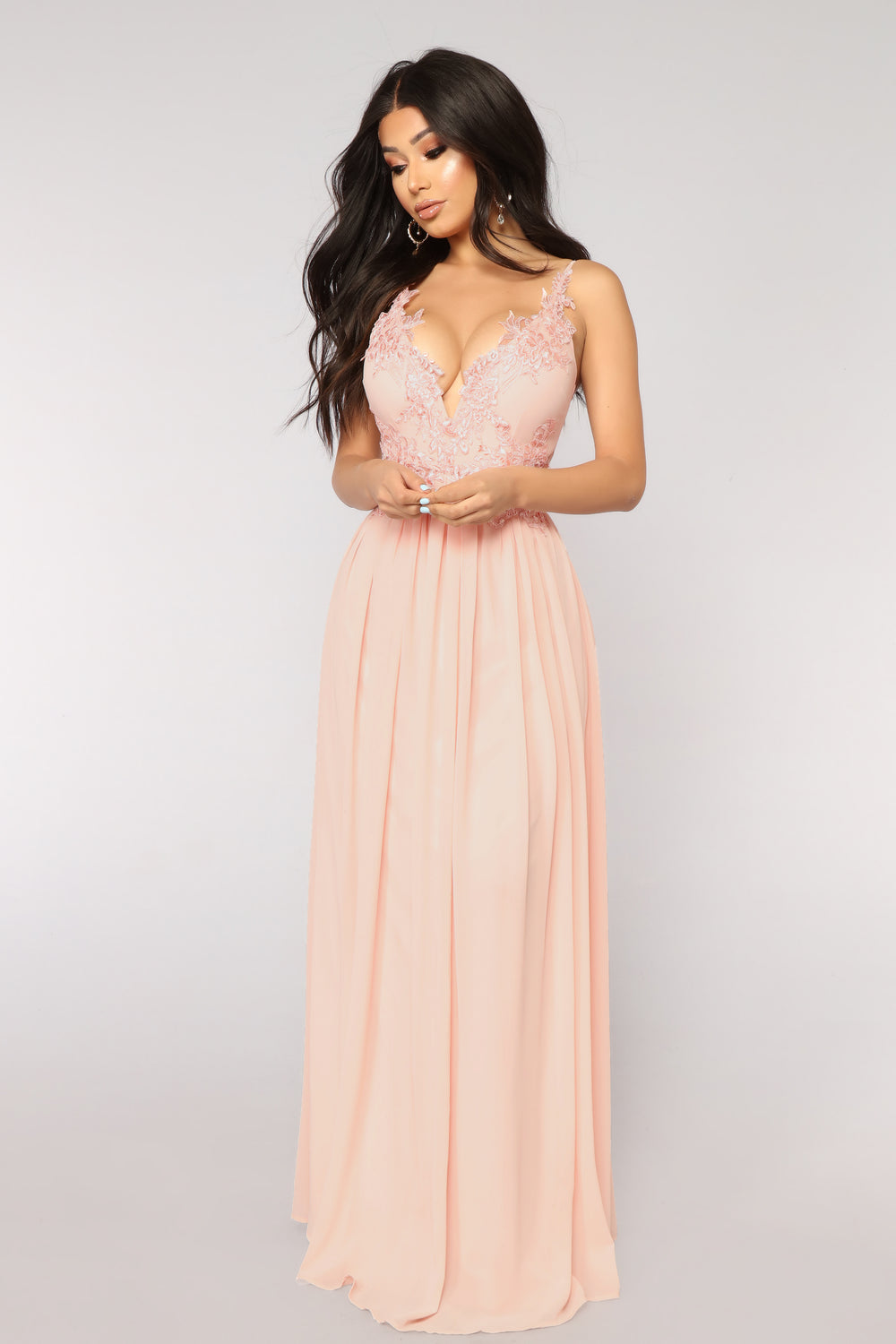 Dreamy Embroidered Dress - Blush