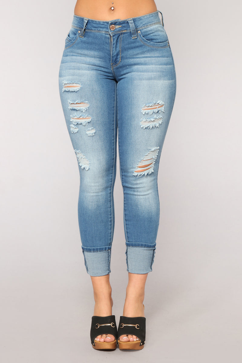Grace Booty Lifting Jeans - Medium Blue Wash