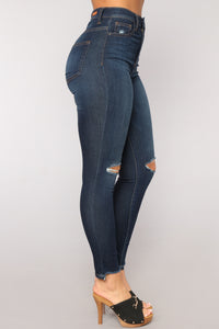 Hips Like Honey Skinny Jeans - Dark Denim