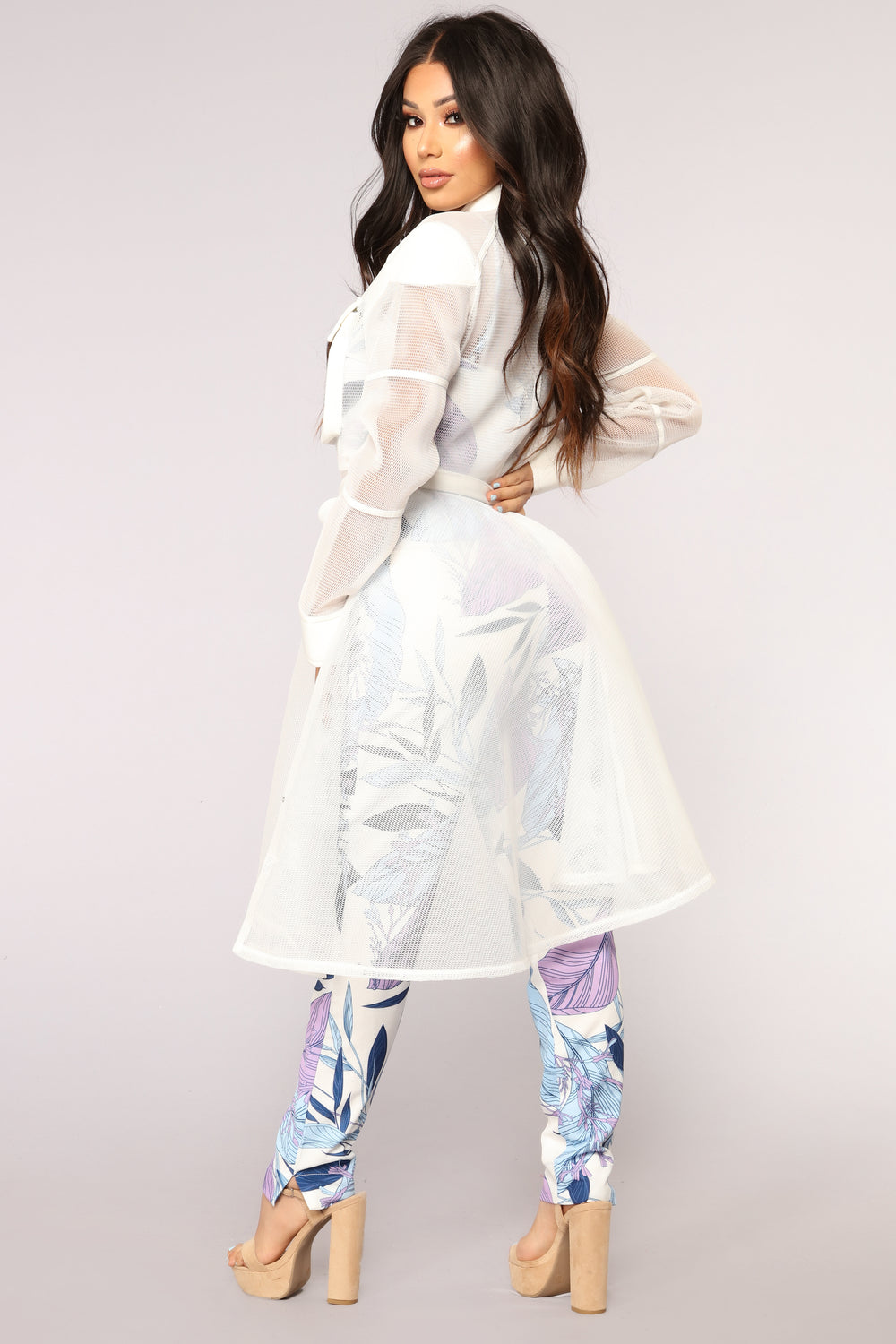 Beyond Fishnet Jacket - White