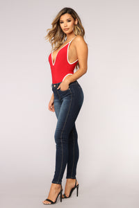 Waiting For The Weekend Bodysuit - Red