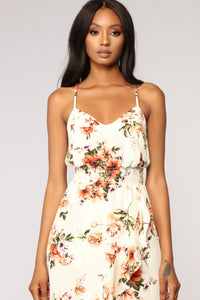 Park View Floral Dress - Off White
