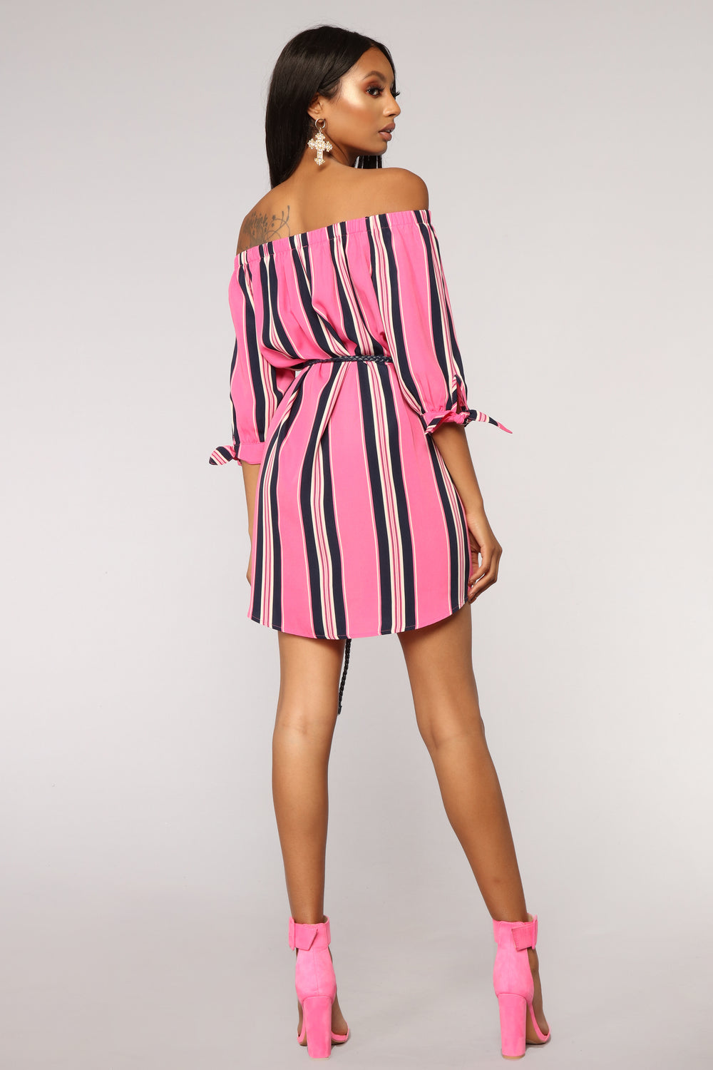 Found My Groove Dress - Fuchsia