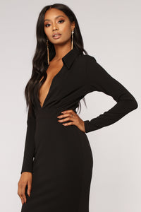 Money Is Power Mermaid Dress - Black Angle 4