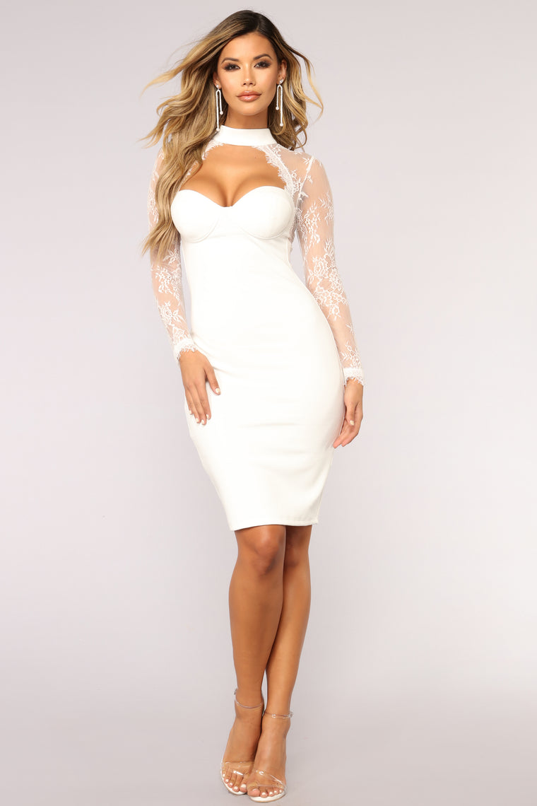 The Case of Lace Dress - White