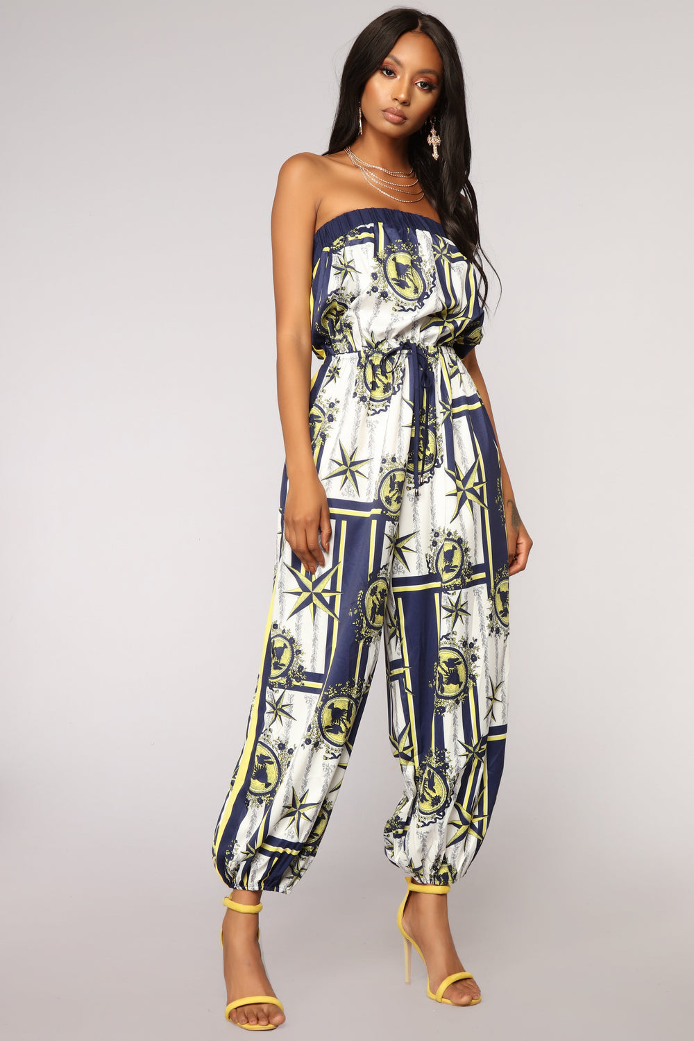 Find Your Path Tube Jumpsuit - Navy