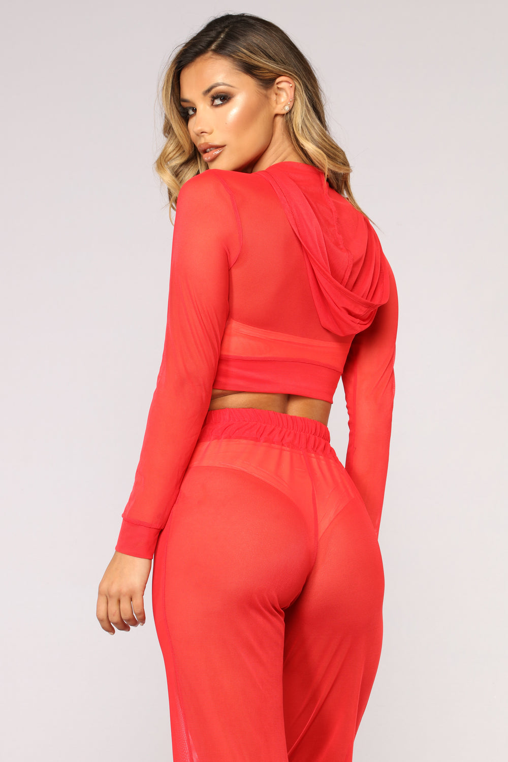Stayin' Shady Coverup Set - Red