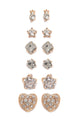 Star Crossed Lovers Earring Set - Gold
