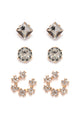 Giddy Up Earring Set - Gold