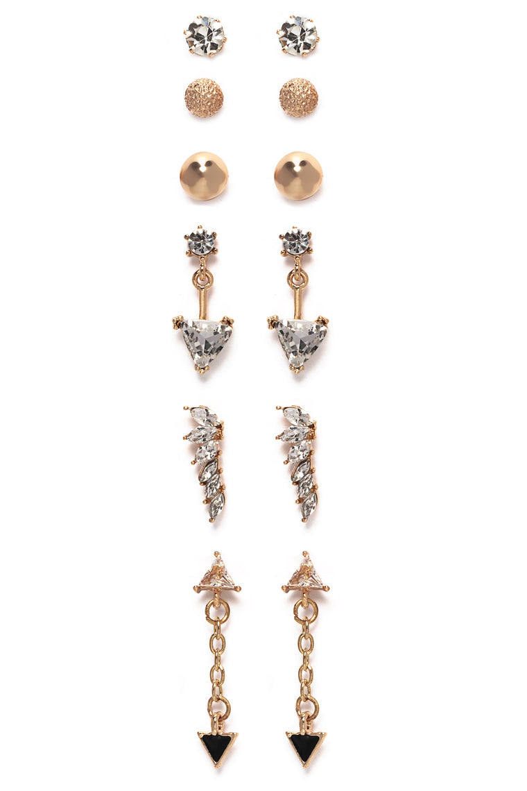 Shoot Your Shot Earring Set - Gold