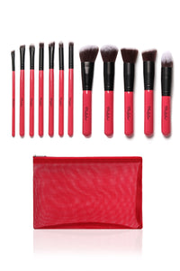 Beauty Creations 12 Pc Pink Kabuki Set
