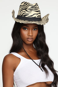 Zoe Zebra Cowboy Hat - Multi Color