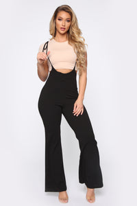 Camille Carpenter Flare Pants - Black Angle 1