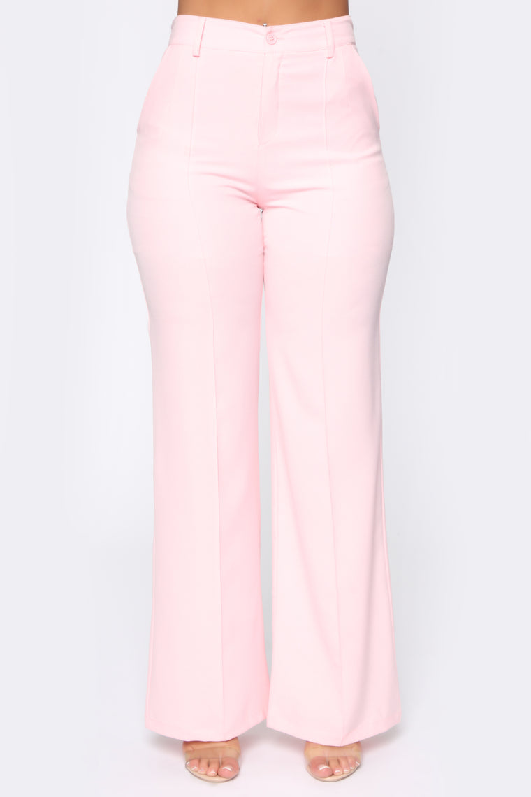 secure the bag flare pants baby pink pants fashion nova secure the bag flare pants baby pink