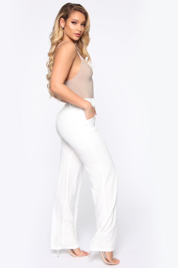 1f9aeecd834 Secure The Bag Flare Pants - Ivory