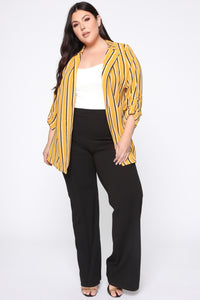 All Checked Out Blazer - Mustard