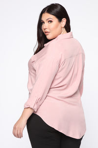 Busy In Love Top - Blush