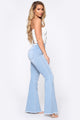 Melina High Rise Flare Jeans - Light Blue Wash
